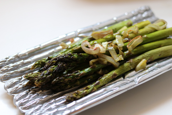Truffle Roasted Asparagus with Shallots