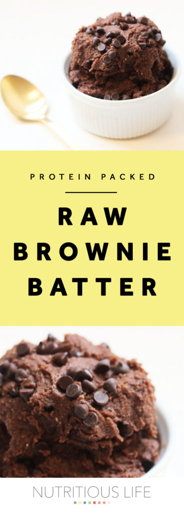 raw brownie batter