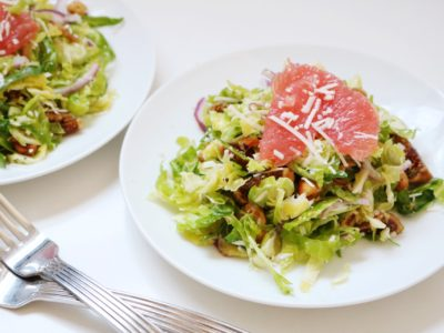 Shaved Brussels Sprout Salad with Pecorino and Hazelnuts