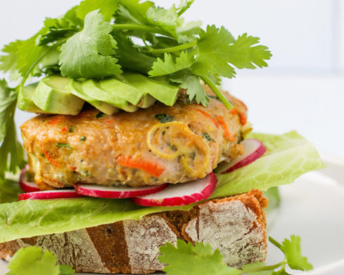 Curry Carrot Turkey Burgers